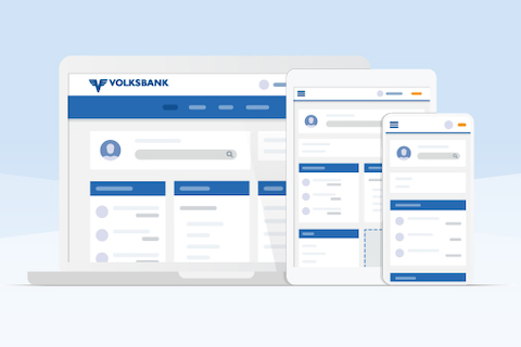 Neues digitales Volksbank Banking